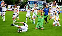Fotball , 6 . august 2017 , Eliteserien , <br /> Stabæk - Sandefjord 1-3<br /> jubel  av blant annet Joackim Solberg Olsen , Ingvar Jonsson , Pau Morer , , håvard Storbæk  SF