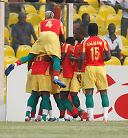 Photo: Steve Bond/Richard Lane Photography.<br /> Guinea v Morocco. Africa Cup of Nations. 24/01/2008. Fode Mansara celebrates Guines's opener
