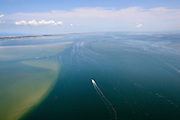 Nederland, Friesland, Waddenzee, 05-08-2014; vaargeul door Waddenzee bij hoogwater.<br /> Waterway through the Wadden Sea.<br /> luchtfoto (toeslag op standard tarieven);<br /> aerial photo (additional fee required);<br /> copyright foto/photo Siebe Swart