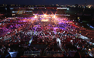 Picture by Richard Gould/Focus Images Ltd +44 7855 403186<br /> 13/07/2013<br /> The crowd wait for Tommy Coyle  and Derry Mathews to enter the ring fight for the vacant Commonwealth Lightweight title at Craven Park, Hull.