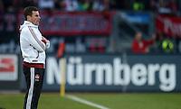 FUSSBALL   1. BUNDESLIGA  SAISON 2012/2013   10. Spieltag 1. FC Nuernberg - VfL Wolfsburg      03.11.2012 Trainer Dieter Hecking (1 FC Nuernberg) vor einer Werbabande