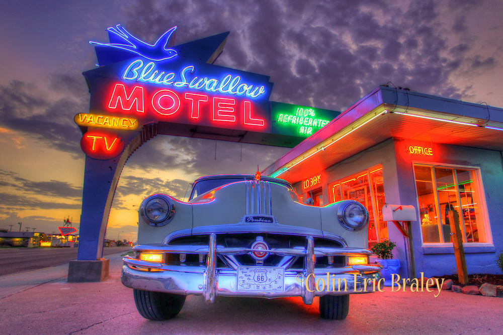 route 66 photos blue swallow motel tucumcari nm colin e braley photography. Black Bedroom Furniture Sets. Home Design Ideas