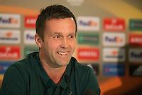 UEFA Europa League 2015: Celtic - Molde. Pressekonferanse med Celtics trener Ronny Deila dagen før Europa League kampen mellom Celtic og Molde på Celtic Park.