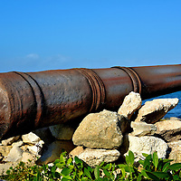 Rusted Smoothbore Cannon near San Miguel, Cozumel, Mexico<br />