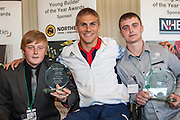 Steve Brown, GB Wheelchair Rugby Captain with Ryan Andrews. Winner of the Young Builder of the year award (14 - 16 category) and Steven Ellis. Winner of the Young Builder of the year award (16 - 24 category)
