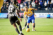 Mansfield Town midfielder Jorge Grant driving forward during the EFL Sky Bet League 2 match between Notts County and Mansfield Town at Meadow Lane, Nottingham, England on 16 February 2019.