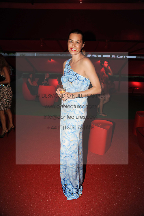 YASMIN LE BON at the annual Serpentine Gallery Summer party this year sponsored by Jaguar held at the Serpentine Gallery, Kensington Gardens, London on 8th July 2010.  2010 marks the 40th anniversary of the Serpentine Gallery and the 10th Pavilion.