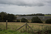 Solar farm next to Sweet Willow Wood, East Sussex, 21 September 2018