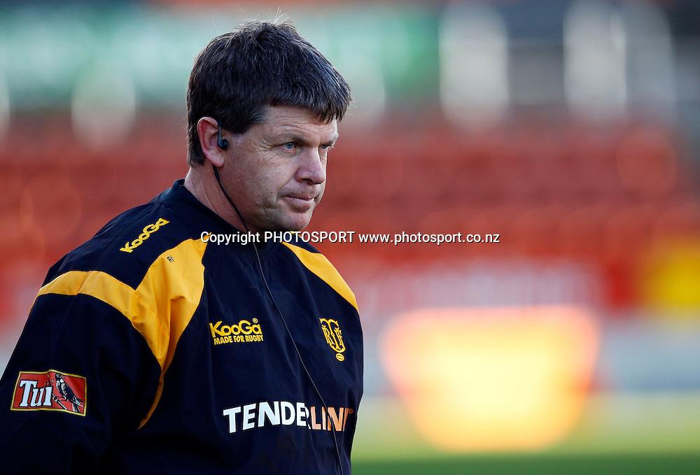 Taranaki coach Adrian Kennedy, Air NZ Cup Preseason match, Waikato v Taranaki, Waikato Stadium, Hamilton, New Zealand. 24 July 2009. Photo: William Booth/PHOTOSPORT