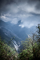 Clouds descend to cover stunning mountain vistas on the Annapurna Dhaulagiri trail.