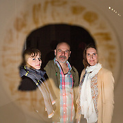 23.03.16<br /> LSAD are delighted to host SYMBOLS: Culture of Death and Cultural Life, a Creative Europe Project under the European Commission. <br /> <br /> Attending the exhibition were exhibiting artists, Gemma Dardis and Mary O'Dea with  Des McMahon, LSAD and show Curator.<br /> <br /> LSAD are one of the seven partners in this Creative Europe project which is running from 2014-2016. This exhibition will feature work from international printmakers, dancers and musicians from 7 European countries. This show embraces not only the work created by these artists during two residencies responding to the theme of symbols, one in Aviles, Spain and one in Dundee Scotland and includes work by Limerick artists, musicians and dancers, Gemma Dardis, Mary O'Dea, Jennifer Brown and Hannah Fahey, but also offers a response by the students of the printmaking department in LSAD to the historic Limerick cemeteries of Mount St. Lawrence and St. John's. The students created an exciting and thought provoking body of work which is showing along side these international artists. Picture: Alan Place/Fusionshooters