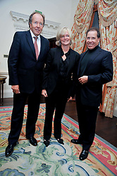 Left to right,  LORD & LADY BRUCE DUNDAS and VISCOUNT LINLEY at a party to celebrate the publication of Gosling - Classic Design for Contemporary Interiors by Tim Gosling held at William Kent House, The Ritz Hotel, London on 1st October 2009.