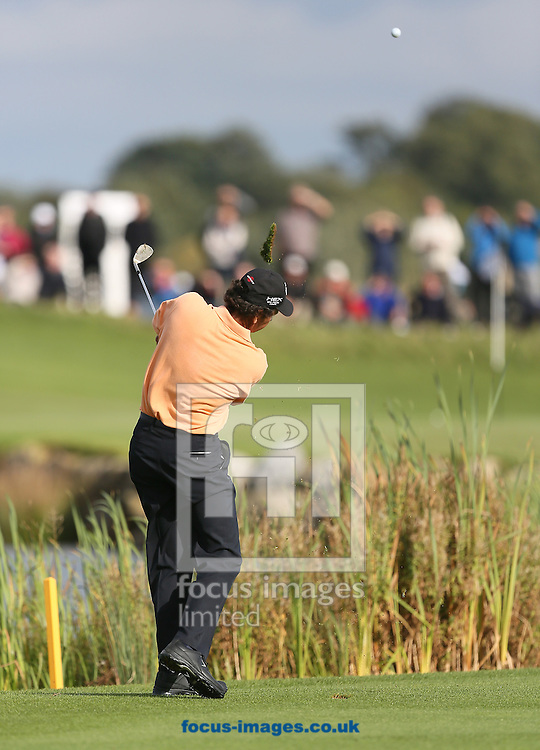 Picture by Paul Gaythorpe/Focus Images Ltd +447771 871632<br /> 06/10/2013<br /> Santiago Luna hits his approach shot to the 12th green during the final round of the English Senior Open at Rockliffe Hall, Darlington.