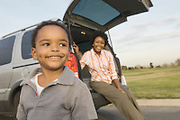 Son and Mother at the Park