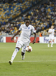 September 14, 2017 - Kiev, Ukraine - Dieumerci Mbokani of Dynamo during the UEFA Europa League Group B football match between FC Dynamo Kiev and KF Skenderbeu at the Olimpiyskyi Stadium in Kiev on September 14, 2017. (Credit Image: © Sergii Kharchenko/NurPhoto via ZUMA Press)