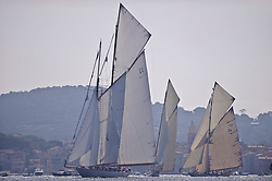 Tuiga, flagship of the Monaco Yacht Club the 15 metre IR that, apart from her Fastnet victory, had enjoyed only a modest career, has become, a hundred years after her launch, one the world's most famous sail yachts