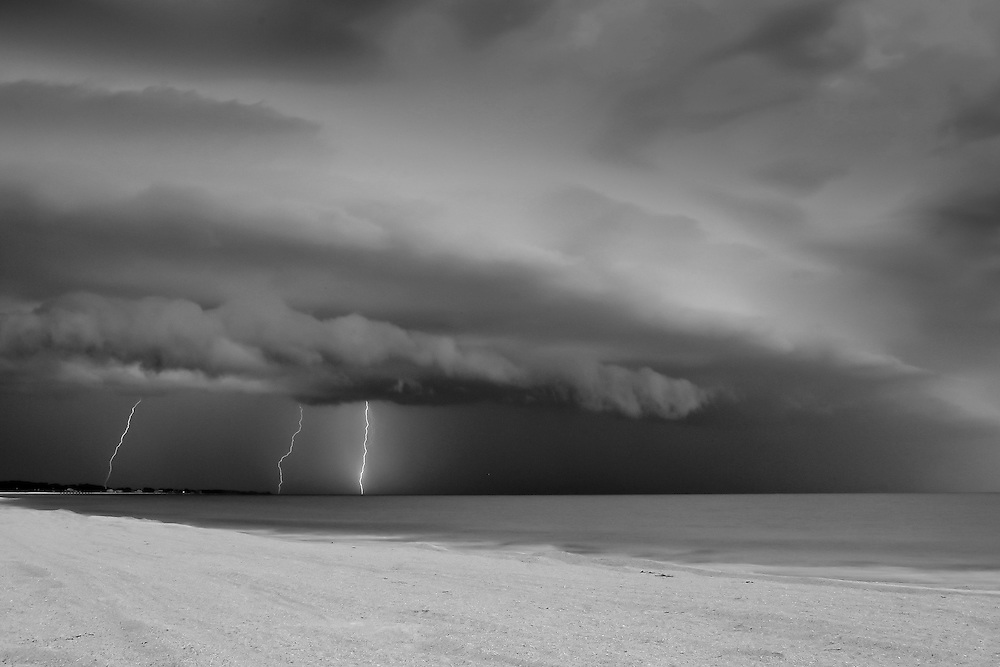 Lightning Photograph, Thunderstorm Photograph taken on Anna Maria Island, Florida (2005)