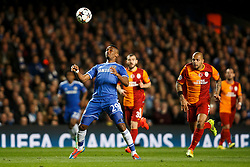 Chelsea Forward Samuel Eto'o (CMR) in action - Photo mandatory by-line: Rogan Thomson/JMP - 18/03/2014 - SPORT - FOOTBALL - Stamford Bridge, London - Chelsea v Galatasaray - UEFA Champions League Round of 16 Second leg.