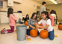 Pumpkin Fest preparations at the Boys and Girls Club of Laconia.  Karen Bobotas for the Laconia Daily Sun