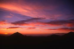 Sunset in the Mt. Margaret Backcountry, Mt. St. Helens National Volcanic Monument, Washington, US