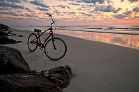 Bicycle in the beach at summer in Florida.