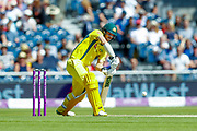 Australia ODI batsman Travis Head with a boundary during the 5th One Day International match between England and Australia at Old Trafford, Manchester, England on 24 June 2018. Picture by Simon Davies.