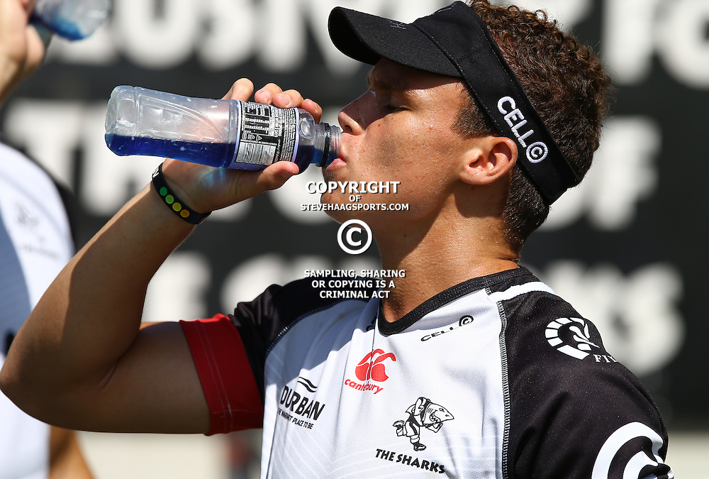 DURBAN, SOUTH AFRICA - FEBRUARY 16: Curwin Bosch during the Cell C Sharks training session at Growthpoint Kings Park on February 16, 2017 in Durban, South Africa. (Photo by Steve Haag/Gallo Images)