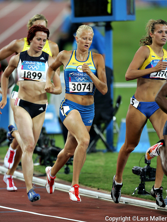 DK Caption: <br /> 20040821, Athen, Gr&aelig;kenland:  Athen 2004 Olympic Games / Olympiske Lege. Carolina Kluft (SWE) vinder guld i 7 kamp<br /> Foto: Lars M&oslash;ller<br /> UK Caption: <br /> 20040821, Athens, Greece:  Athens 2004 Olympic Games / Olympiske Lege. Carolina Kluft (SWE) win gold in pentathlon<br /> Photo: Lars Moeller