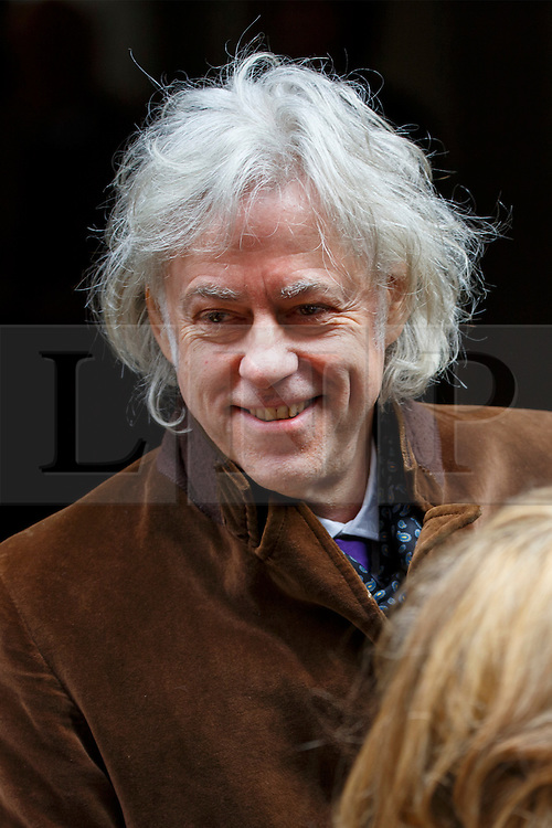 © Licensed to London News Pictures. 05/03/2016. London, UK. BOB GELDOF leaving Rupert Murdoch and Jerry Hall's wedding ceremony at St Bride's Church in Fleet Street, London on Saturday, 5 March 2016. Photo credit: Tolga Akmen/LNP