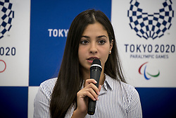 August 29, 2017 - Tokyo, Tokyo, Japan - Yusra Mardini, a 19 year-old Syrian swimmer who competed at the Rio 2016 Olympic Games as a member of Refugee Olympic Team and UNHCR Goodwill Ambassador, she speaks in Tokyo 2020 office on August 29, 2017, Where she shares her experiences at the Rio 2016 Games and her current activity as an athlete and UNHCR Goodwill Ambassador with Tokyo 2020 staff members. (Credit Image: © Alessandro Di Ciommo/NurPhoto via ZUMA Press)