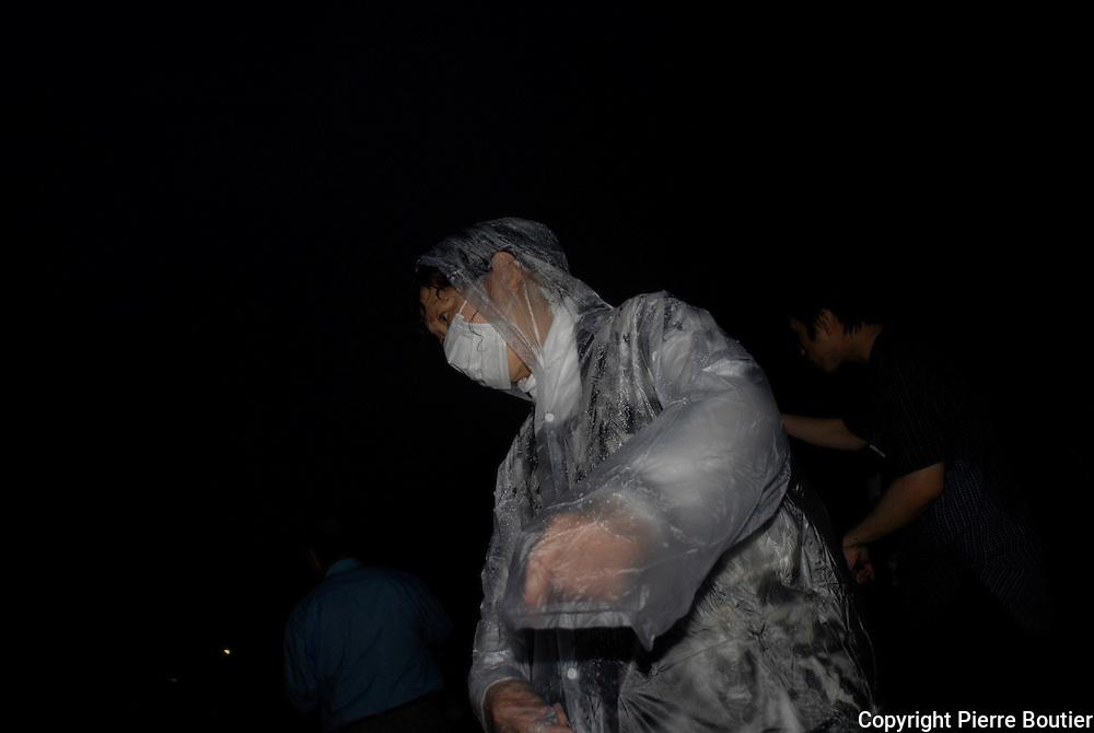 """Danse traditionnelle dite """" Gujo """"danse pour la promotion touristique de la region de Gifu, le tsunami et la catastrophe nucleaire ont fait perdre beaucoup d'argent dans le secteur touristique a cette region."""