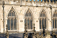 15th Century Perpendicular style windows in the clerestory of the nave at Saint Mary Beverley