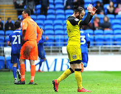 John Brayford of Burton Albion cuts a dejected figure after Nathaniel Mendez-Laing of Cardiff City scores a goal - Mandatory by-line: Nizaam Jones/JMP- 30/03/2018 -  FOOTBALL -  Cardiff City Stadium- Cardiff, Wales -  Cardiff City v Burton Albion - Sky Bet Championship