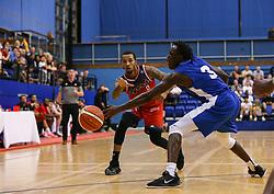 Gentry Thomas of Bristol Flyers passes the ball - Photo mandatory by-line: Arron Gent/JMP - 28/09/2019 - BASKETBALL - Crystal Palace National Sports Centre - London, England - London City Royals v Bristol Flyers - British Basketball League Cup