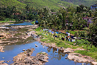 Periyar Countryside River munar in Kerala state india