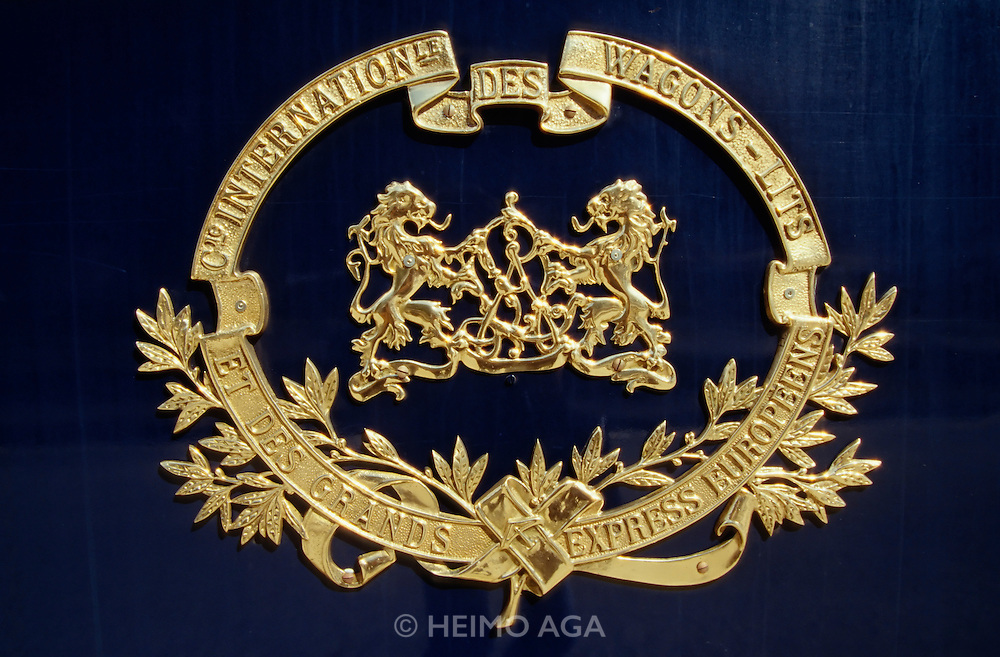 Venice Simplon-Orient-Express. The famous brass warew Wagons-Lits logo.