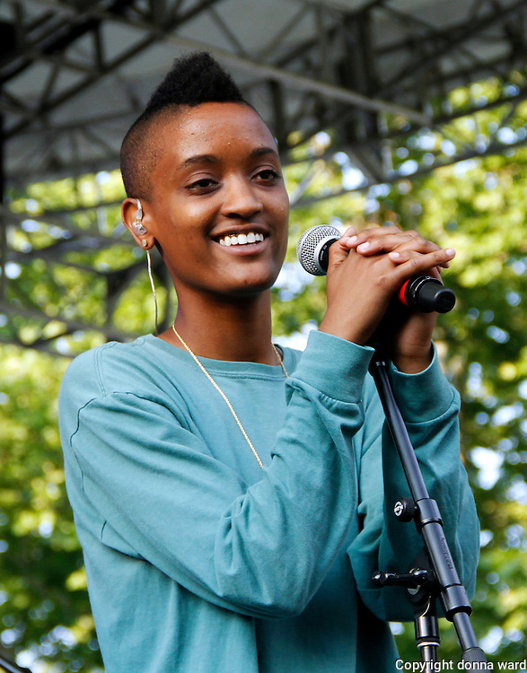 Syd Bennett of The Internet performs during the 30th Anniversary season of Central Park SummerStage in Rumsey Playfield in New York City, New York on July 01, 2015.