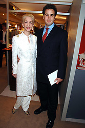 LADY JUDGE and her son LLOYD THOMAS at the Grosvenor House Art & Antiques Fair Gala evening in aid of the UKês oldest childrenês charity CORAM held at the Grosvenor House Hotel, Park Lane, London on 14th June 2007.<br />