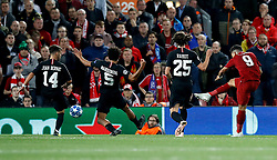 Liverpool's Roberto Firmino scores his side's third goal of the game