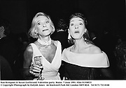 Nan Kempner & Susan Gutfreund. Valentino party. Rome. 7 June 1991. Film 91558f15<br />