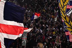 October 7, 2018 - Paris, ile de france, France - Fans during the french Ligue 1 match between Paris Saint-Germain (PSG) and Olympique Lyonnais (OL, Lyon) at Parc des Princes stadium on October 7, 2018 in Paris, France. (Credit Image: © Julien Mattia/NurPhoto/ZUMA Press)