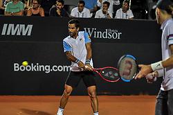 February 23, 2019 - Rio De Janeiro, Brazil - RIO DE JANEIRO, RJ - 23.02.2019: RIO OPEN 2019 - Final match of the doubles tournament between Thomaz Bellucci (BRA) / Rogério Dutra Silva (BRA) vs. Maximo Gonzalez (ARG) / Nicolas Jarry (CHI) during Rio Open 2019 (ATP 500) held at the Jockey Club Brasileiro in Rio de Janeiro, RJ , this Saturday (23) (Credit Image: © Nayra Halm/Fotoarena via ZUMA Press)
