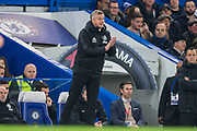 Ole Gunnar Solskjaer, Manager of Manchester United during the EFL Cup match between Chelsea and Manchester United at Stamford Bridge, London, England on 30 October 2019.