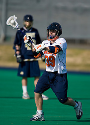 Virginia midfielder Peter Lamade (39) in action against Navy.  The Virginia Cavaliers scrimmaged the Navy Midshipmen in lacrosse at the University Hall Turf Field  in Charlottesville, VA on February 2, 2008.