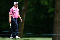 May 3, 2019 - Charlotte, NC, U.S. - CHARLOTTE, NC - MAY 03: Jason Kokrak makes his way to the 11th green in round two of the Wells Fargo Championship on May 03, 2019 at Quail Hollow Club in Charlotte,NC. (Photo by Dannie Walls/Icon Sportswire) (Credit Image: © Dannie Walls/Icon SMI via ZUMA Press)