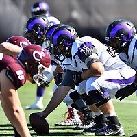 September 30,2017 - Chicago, IL,US - University of Chicago (Maroons) vs Cornell (Rams)  at Amos Alonzo Stagg Stadium in Chicago IL.<br /> Chicago (Maroons) rolls over Cornell (Rams) winning 55-10. <br /> Credit: Dean Reid