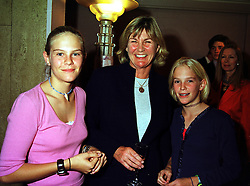 Left to right, LADY PHILLIPA HOWARD, her mother the COUNTESS OF SUFFOLK & BERKSHIRE and LADY NATASHA HOWARD, at a fashion show in London on 3rd October 1999.MXB 21