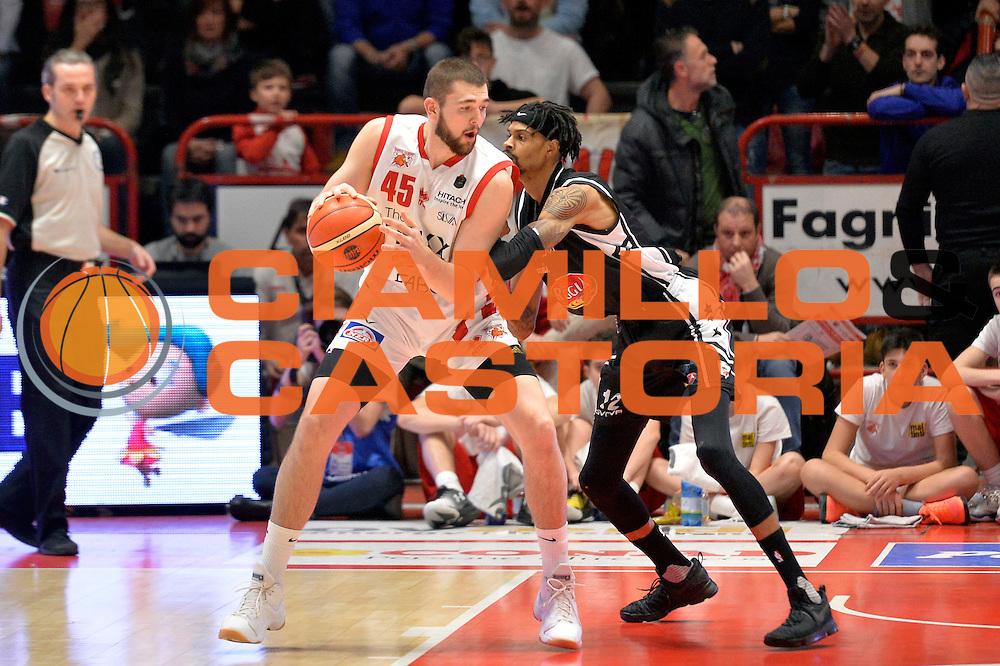 Nathan Boothe<br /> The FlexX Pistoia Basket - Pasta Reggia Juve Caserta<br /> Lega Basket Serie A 2016/2017<br /> Pistoia, 13/02/2017<br /> Foto Ciamillo-Castoria