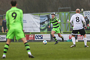 Forest Green Rovers Charlie Cooper(20) runs forward during the Vanarama National League match between Forest Green Rovers and Boreham Wood at the New Lawn, Forest Green, United Kingdom on 11 February 2017. Photo by Shane Healey.