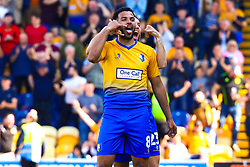 Jacob Mellis of Mansfield Town celebrates his opening goal with Jorge Grant of Mansfield Town - Mandatory by-line: Ryan Crockett/JMP - 19/04/2019 - FOOTBALL - One Call Stadium - Mansfield, England - Mansfield Town v Morecambe - Sky Bet League Two